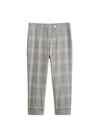 Violeta BY MANGO Check cotton trousers
