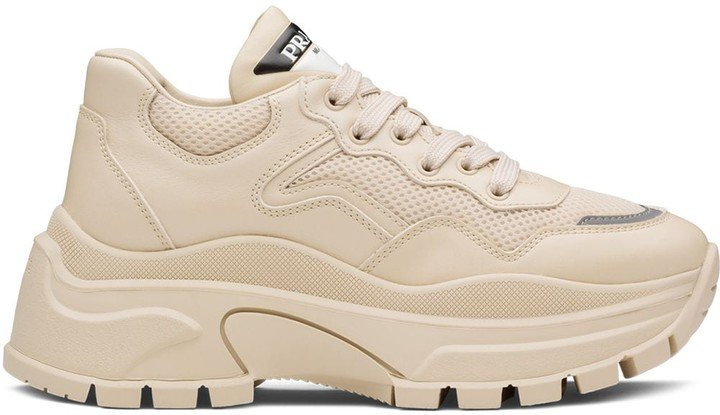 Leather Panel Chunky Sneakers