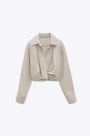 LINEN BLEND SHIRT WITH EMBROIDERY | ZARA United Kingdom