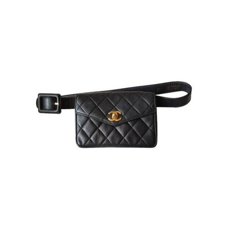 Chanel Waist Pouch/ Clutch Black Travel Bag