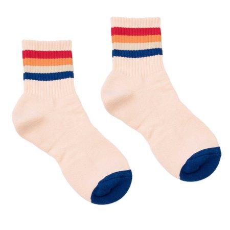 Peach Multi Colored Striped Socks - Teddy Fresh