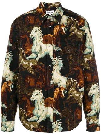 Kenzo Horse Print Overshirt