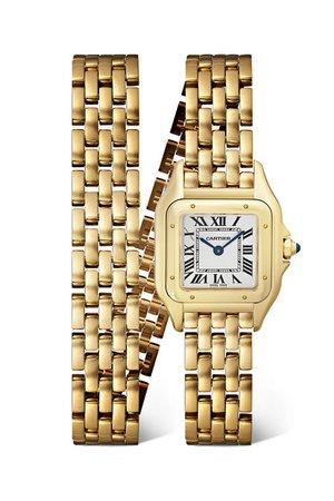 Cartier   Panthère de Cartier 22mm small 18-karat gold watch   NET-A-PORTER.COM