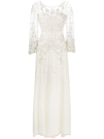 Jenny Packham Apache embroidered-tulle Wedding Gown - Farfetch