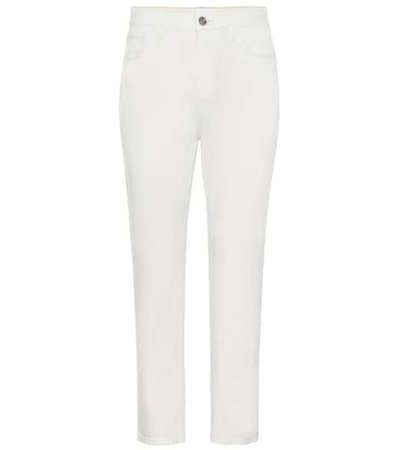 The Vintage cropped mid-rise slim jeans