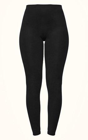 Black Seamless Leggings   Trousers   PrettyLittleThing