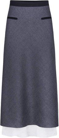 Anna October High-Rise Wool Pencil Skirt