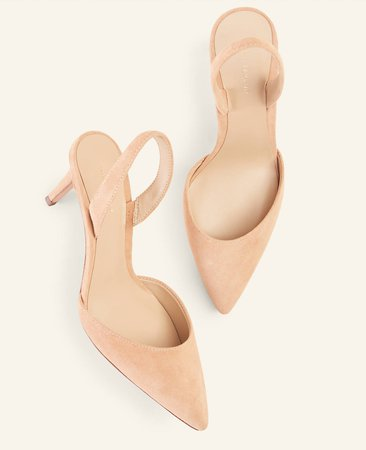 Kerry Suede Slingback Pumps | Ann Taylor
