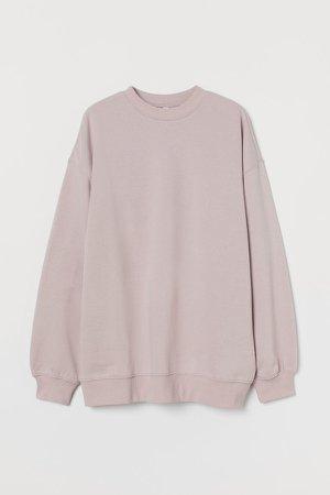 Oversized Sweatshirt - Purple