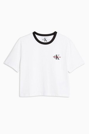 Embroided Logo Ringer T-Shirt by Calvin Klein | Topshop