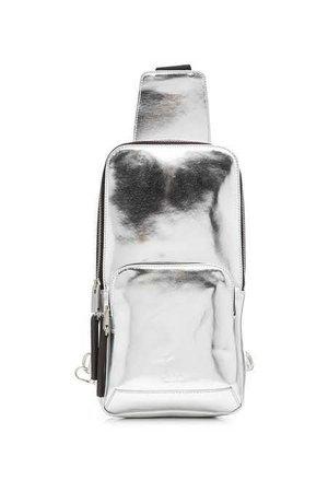 (163) Metallic Leather Backpack   ALYX STUDIO