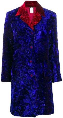 Pre-Owned crushed velvet coat