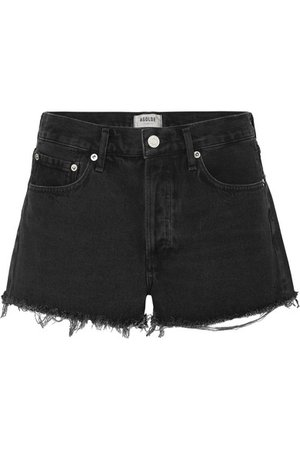 AGOLDE | Parker frayed denim shorts | NET-A-PORTER.COM