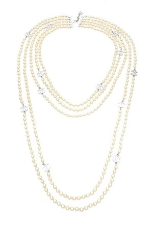 Chanel Silver & Pearl Multistrand Necklace - What Goes Around Comes Around