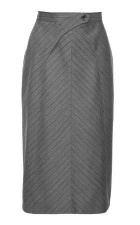 SITUATIONIST High-Rise Wool Pencil Skirt