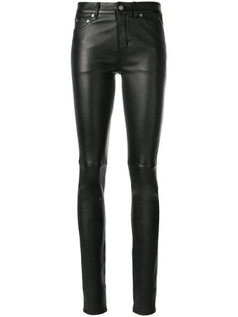 Saint Laurent Skinny Leather Trousers - Farfetch
