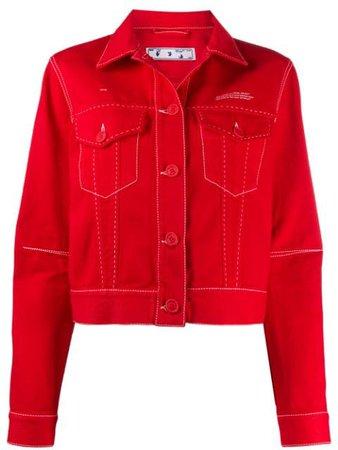 Off-White Джинсовая Куртка С Логотипом - Купить В Интернет Магазине В Москве | Цены, Фото.