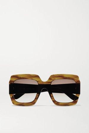 Tortoiseshell Oversized square-frame tortoiseshell acetate sunglasses | Gucci | NET-A-PORTER