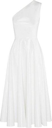 Steele One-Shoulder Vinyl Midi Dress