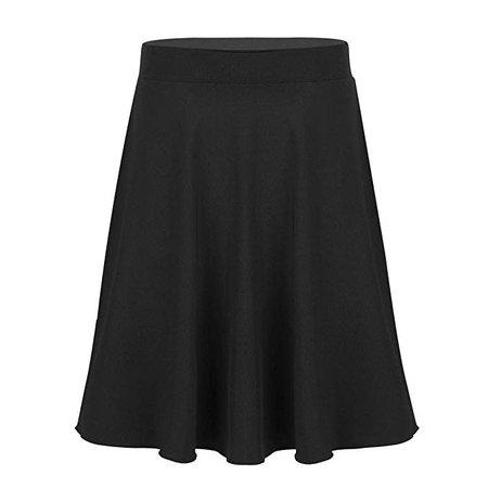 Amazon.com: easyforever Kids Girls Knee Length Summer Skater Skirt Elastic Waist Pleated A-line Skirt School Uniform Black 10: Clothing