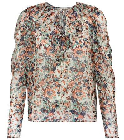 Ulla Johnson - Astrid floral silk-blend blouse | Mytheresa