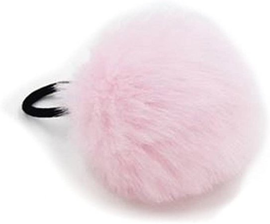 "2"" Faux Fur Pom Pom Hair Bobble Elastic Girls Ladies Party Bobbles (Pale Pink): Amazon.co.uk: Clothing"