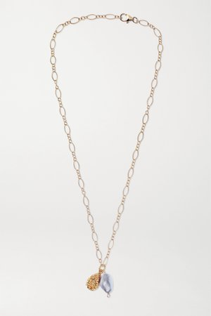 Gold Shadow and Pearl gold-plated pearl necklace | Alighieri | NET-A-PORTER