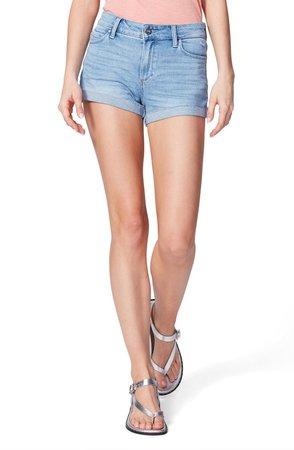 JJ High Waist Cuffed Denim Shorts