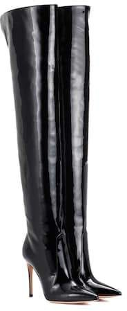Rennes leather over-the-knee boots