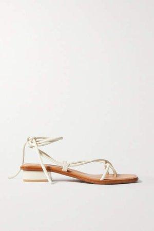 Ara Leather Sandals - Cream