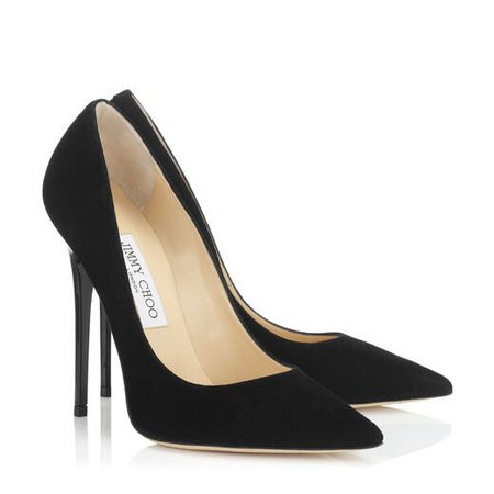 Black Suede Pointy toe Pumps | Anouk | Spring Summer 14 | Jimmy Choo