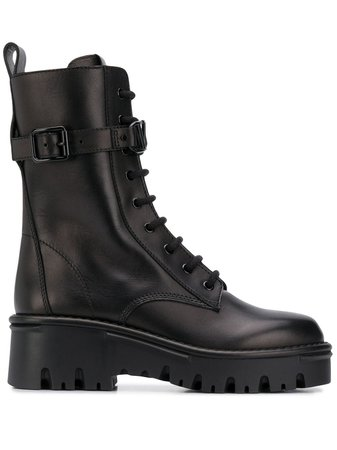 Valentino Garavani lace-up Military Boots - Farfetch