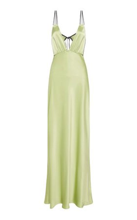 Bernie Pleated Sleeveless Satin Maxi Dress By Paris Georgia   Moda Operandi