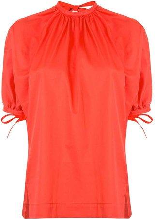 Short-Sleeved Cotton Blouse