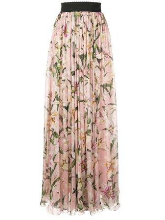 Dolce & Gabbana Lily Print Long Skirt - Farfetch
