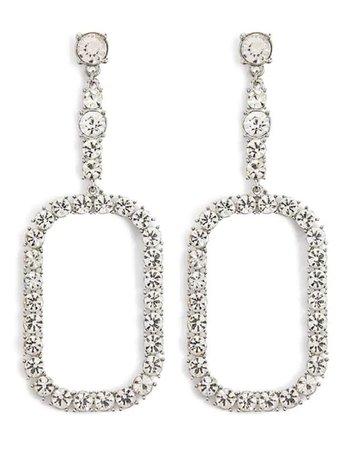 diamond drop-down earrings