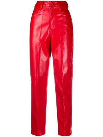 Red Philosophy Di Lorenzo Serafini faux-leather slim trousers - Farfetch