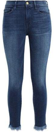 Cantine Frayed Mid-rise Skinny Jeans