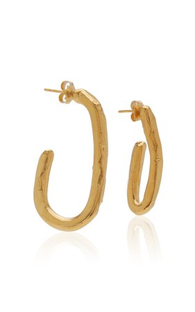 The Mind In Flight 24K Gold-Plated Hoop Earrings by Alighieri | Moda Operandi