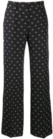 printed Vlogo straight trousers