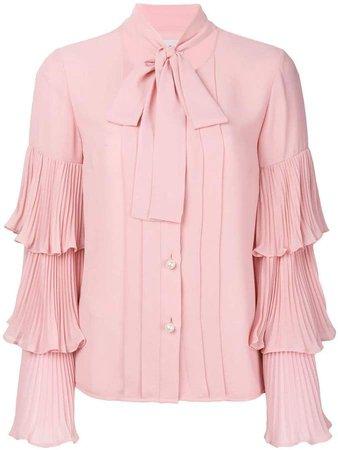 Paris pleated sleeves shirt