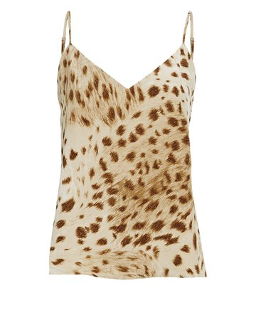 L'Agence Jane Leopard Print Silk Camisole | INTERMIX®