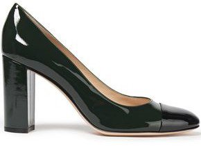 Langley 85 Two-tone Patent-leather Pumps