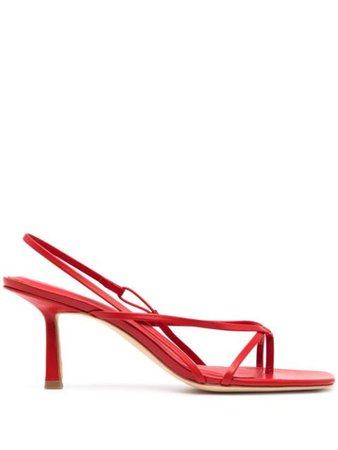 Studio Amelia Flip Flop 75 heel sandals red R21F013SCARLT - Farfetch