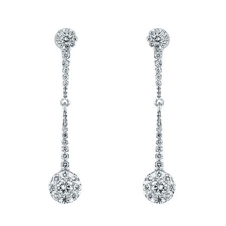 long diamond earrings - Google Search
