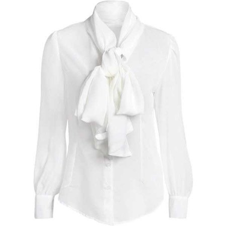 Bow Tie See-through Blouse