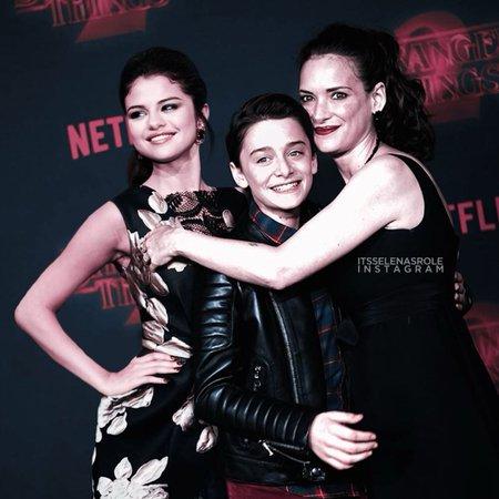 Selena Gomez & Winona Ryder & Noah Schnapp