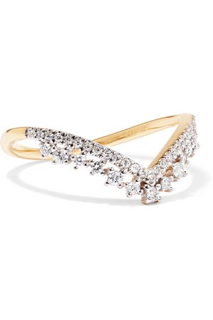 STONE AND STRAND | 14-karat gold diamond ring | NET-A-PORTER.COM