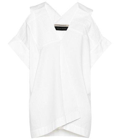 Asymmetric cotton top