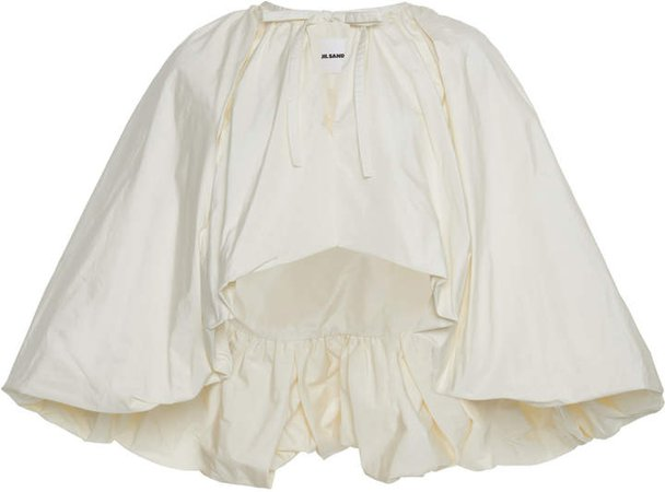 Jil Sander Pleated Satin Cape
